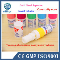 Wholesale Promotion Thailand Mint Cylinde Nasal Inhaler Refresh Brain Anti Fatigue Tube Cure Stuffy Nose Runny Nose Nasal Aspirator
