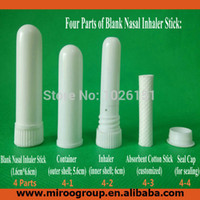 Wholesale sets blank nasal inhaler aroma sticks blank aromatherapy nasal inhaler nasal inhalers Cotton Wicks mm