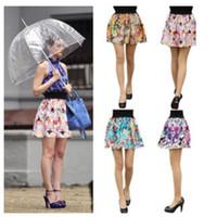skater skirt - New Summer Skirt Vintage Pleated Skater Skirt Printing Short Skirts Womens Saias Femininas Fashion Faldas Skirts Female