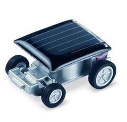 Wholesale Small Plastic Robot Toy - Wholesale-DIY Educational Solar toys Smallest Mini Solar Powered Robot Racing Car Toy