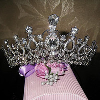 accessories and ornaments - Oversize Crystal bride hair accessory wedding tiaras and crown for sale rhinestone pageant crowns head jewelry hair ornament