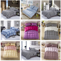 Cheap Wholesale-New 2015 Drop Ship King Queen Full Size Mickey Mouse Cartoon 4pcs Bedding Set, Kids Bedclothes Bedspread Duvet Cover Set