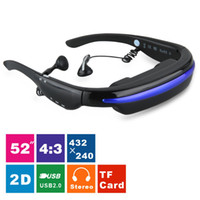 Wholesale Brand Excelvan Inch Virtual Screen Digital Portable Video Glasses D Stereo Personal Theater Multi media Player TF Card