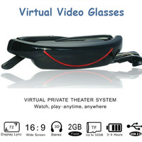Wholesale Virtual Screen Video Movie Glasses Widescreen Eyewear Mobile Theatre Cinema Inch VG320A Connected with DVD PS3 TV TUNER