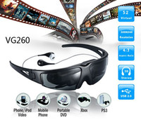 Wholesale virtual screen video glasses VG260 inch with AV play videos