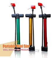 basketball air pressure - High pressure mini inflatable pump seamless steel tube cm Only bike tire basketball football air inflator pumps low price gift