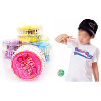Gros-Kids Boy Toy Girl clignotant Colorful LED Glow YOYO Toys Party Light Up Yo-Yo Jouets
