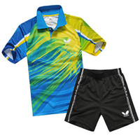 Wholesale Butterfly table tennis shirt polyester breathable Table Tennis clothes Men polo shirts man sportswear