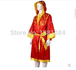 Wholesale Boxing robes Men Boxing MMA Muay Thai Kung Fu Martial Arts Sanda Uniform Boxing high quality clothes