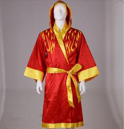 Wholesale Boxing Shirt Robes Martial Arts Cloak Boxing Matches Played Boxing Robes Silk Robes Shirts Man