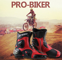 3 wheel motorcycle - new arrive speed wheels long design automobile race boots motorcycle shoes motorcycle boots