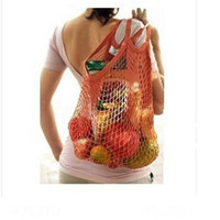 Wholesale PC Environment Friendly Portable Shopping String Bag Cotton Net Mesh Bag For Sun Clothes Toys Basketball Storage Dilly Bag