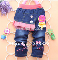 Wholesale New children girl s jeans fashion baby girls boys minnie mouse cartoon sports pants Autumn kids jean trousers style