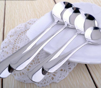 Wholesale Creative stainless steel spoon round scoop soup to eat more lovely tableware coffee bag mail
