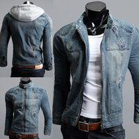 Men Denim Jacket Hoodie Reviews | Men Denim Jacket Hoodie Buying ...