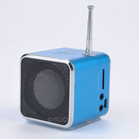 Wholesale Portable Rechargeable LED Music Stereo Media Speaker quot LCD mm Slots USB Micro SD TF Mini Portable Audio Player