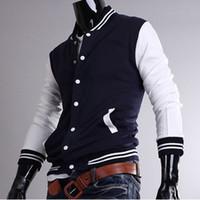 varsity jacket - Diamond Supply Co Men Classic Vintage Sports Baseball Uniform Mens College Varsity Basketball Sweatshirt Jacket Sportswear