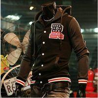 baseball season start - Across the season starting fashion men baseball jacket unlined upper garment baseball uniform hooded jacket