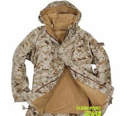 Wholesale American desert digital camouflage clothing in the field G8 camouflage fleece windbreaker winter jacket L XXXL
