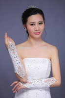 beautiful lucy - sexy beautiful bride slimming lace gloves sparkling diamond wedding dress sexy transparent long project refers to gloves lucy