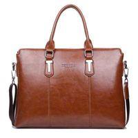 Wholesale New Fashion Brands Mens Genuine Leather Bag High end Business Men Briefcase Mens Messenger Bags Vintage Crossbody Bags
