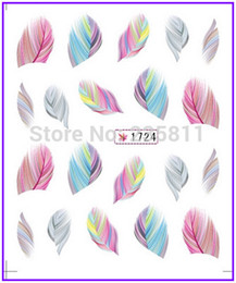 Wholesale-1X Nail Art Water Stickers Nail Decals Stickers Water Transfers Decal Feather Plumage SY1724