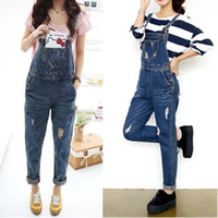 bib overall vintage - XL Plus Size Summer Denim hole Jeans Women Overall Casual Jumpsuit Fashion Jumpsuits Overalls For Woman Bib Pants New