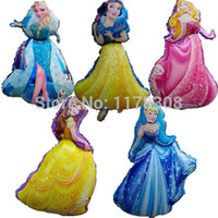 belle holidays - set Large Cartoon Princess Cinderlla Belle elsa foil balloons snow white kids Holiday gifts Birthday wedding decorations