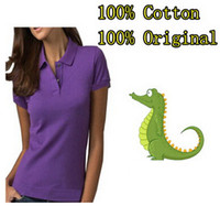 alligator shirt - Cotton Woman Short Polo Shirts High Quality Pure Cotton Alligator Classic Lady Sweatshirts Factory Direct Polo Shirts