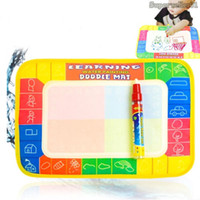best drawing pad - Best Gift Kids Water Painting Writing Drawing Board paint pad Aquadoodle Mat Magic baby play mat Pen Children Toys Hot