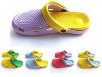 Wholesale Fashion summer garden shoes women s hole shoes rainy shoe EVA beach sandal slipper double layer garden shoe