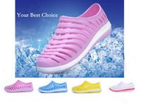 Wholesale colors New Women Summer Fashion Clog Sandals Graden Shoes Beach shoes Flat shoe hole shoes