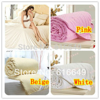Wholesale piece amp retail mulberry silk quilt blanket bedding all size filled with kg silk quilt free shippig