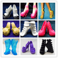 doll shoes - Best Selling Original High Quality Monster Doll Shoes Mixed Multi styles Boots Sandals Shoes For Monster High Dolls Pairs