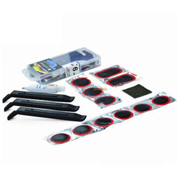 Wholesale-MOQ 1Set Outdoor Bike Cycle Cycling Bicycle Tire Patch Puncture Repair Kit Rubber Tool