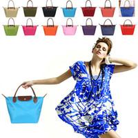Cheap Wholesale-Hot Sale Handbags Designer Women Tote Casual Shoulder Bag Nylon Lady Beach Bag Bolsas Femininas
