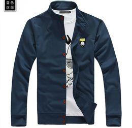 Wholesale-2015 new fashion spring men fleece collar leisure cardigan cultivate one's morality fleece jacket 5 colors