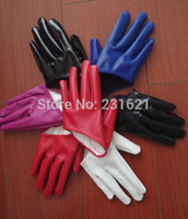fashion fingerless leather gloves - women s fashion gloves sexy half palm short glove mittens sexy PU leather motorcycle driving gloves colors