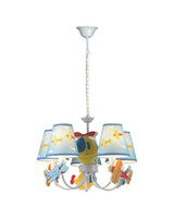 airplane themes - EMS Free Lights Cute Cartoon Chandelier With Airplane Theme Multicolored Lamp Bedroom LED Light For Children s Room MD80695C