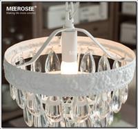 Venta al por mayor Lámpara de suspensión de la vendimia-mini lámpara de cristal del accesorio ligero Cottage blanca que cuelga de luz para Comedor, Porche pasillo