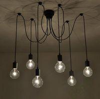 Wholesale arm edison bulb Pendant Chandelier Modern Antique Adjustable DIY E27 Art Spider Ceiling Lamp Fixture Light