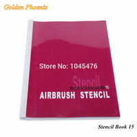 Wholesale Golden Phoenix Airbrush Tattoo Stencil Book With Animals Designs For Temporary Spray Body Paint Makeup