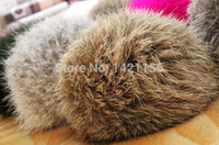 beanies on sale - natural color Rabbit Fur pompom CM for Beanies hats cap keychain bags natural fur balls real natural fur pom poms on sale
