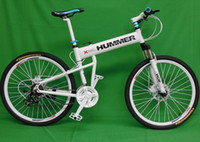 Wholesale quot x17 quot inch aluminium hummer folding mountain bicycle speed disc brakes tall man folding bicycle bike