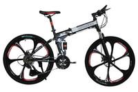 Wholesale quot Inch Color Carblon Folding Bicicleta Mountain Bike Speed Double Disc Brakes Tall Man Folding Bicycle Bike