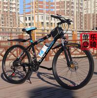 Wholesale Mountain Bike Inch Wheel Speed Double Disc Brake Student Mountain Bikes Bicycle For Men Bicicleta Mountain Bike One Sale