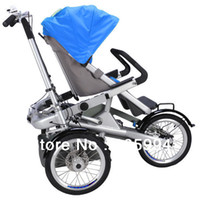 stroller baby - Alloy child and mom stroller bike multi function tricycle with baby seat riding amp barrow MYC