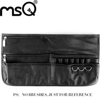 bags for makeup artists - MSQ Brand Professional Black makeup bag Super Huge cosmetic belt make up storage for makeup artist New Product for your beauty