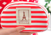anchor storage bag - Travel Makeup Eiffel Tower Anchor Type Storage Cosmetic Organizer Bag Cosmetic Cases