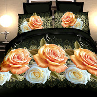 Cheap Wholesale-New 3D animals and flower bedding set,bed linen,bedding-set,family set. 4pcs quilt  bed sheets   pillowcases.king size
